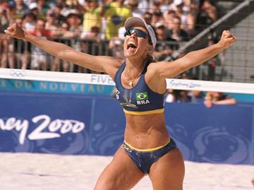 Adriana Behar, jogadora de voley de praia