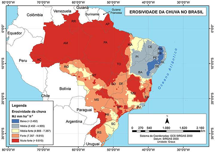 Informacoes do mapa da erosao, serao uteis para prevenir catastrofes na estacao de chuvas, pelo Brasil