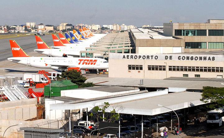 Aeroporto de Congonhas em São Paulo esta entre os 16 a serem concedidos. Foto AgBr, Valter Campanato
