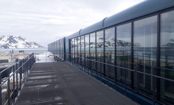 Estacao Comandante Ferraz na Antartica, moderna, reinaugura a 14 de janeiro com transmissao da TV Br