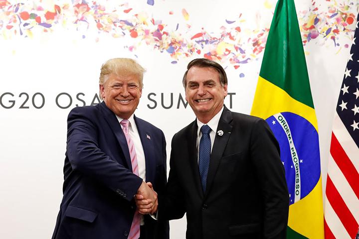 Tarifa real para aco e aluminio, desafio entre Donald Trump e Jair Bolsonaro. Foto PR, Alan Santos.