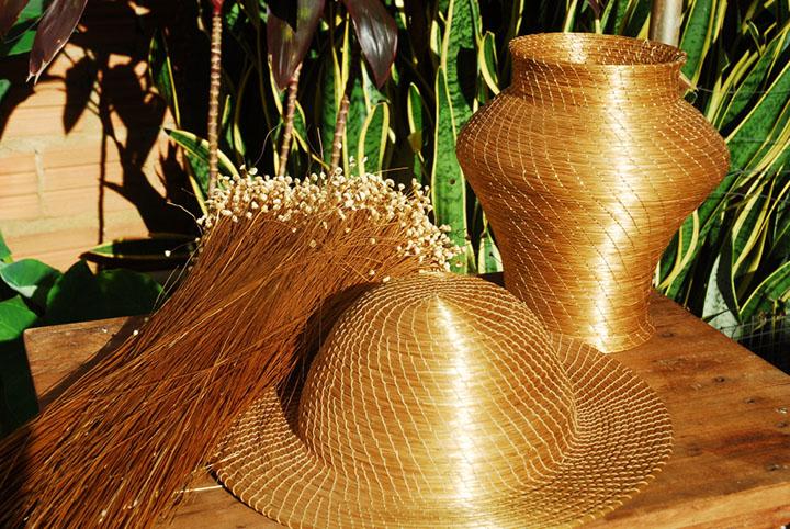 Capim dourado compoe o rico artesanato do Topcantins e de boa parte da regiao norte no Brasil
