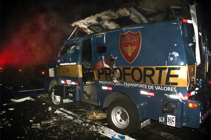 Prejuízos elevados com assaltos a carros-fortes, repercute em Brasília. Empresas pedem socorro.