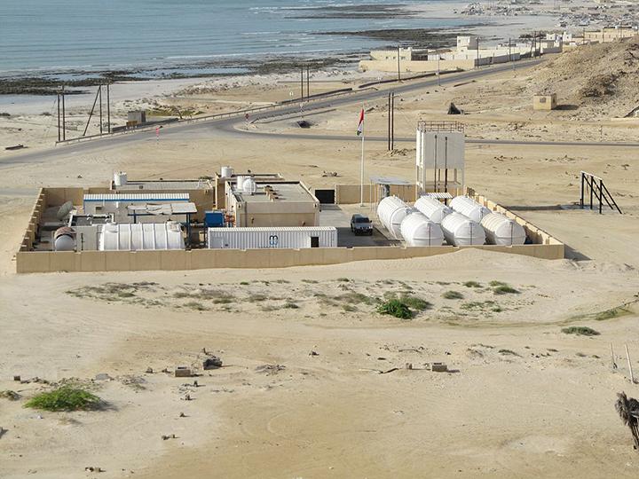 Dessalinizacao resolve escassez, mas causa danos ao meio ambiente. Usina de Al Khaluf em Oma.