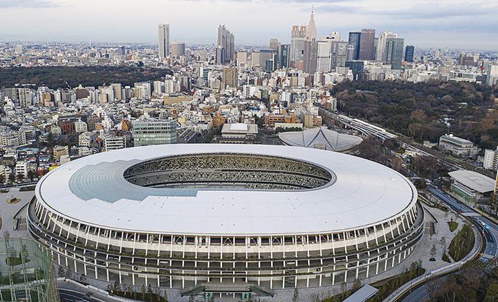 Do Estadio Nacional de Toquio a voz do COI contra negativismo. Olimpiada sera realizada em 2021.