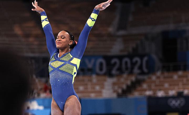 Ouro conquistado por Rebeca Andrade, estimula a equipe olímpica brasileira. Foto COB, Jonne Roriz.