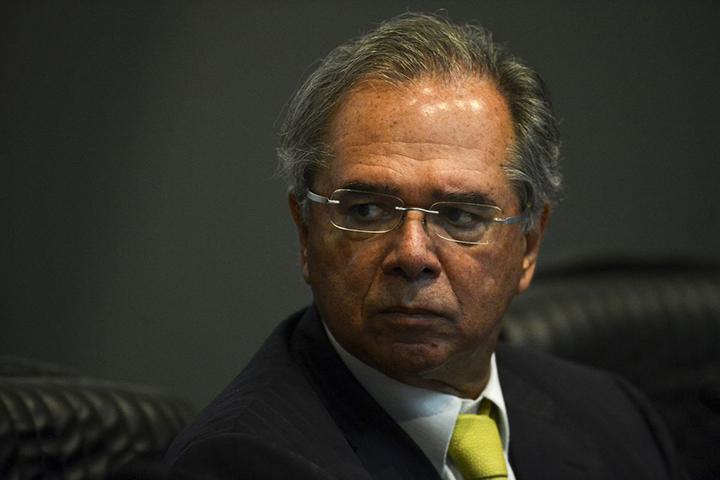 Paulo Guedes, Ministro da Economia pede pelo Brasil. Foto AgBr, Marcelo Camargo.