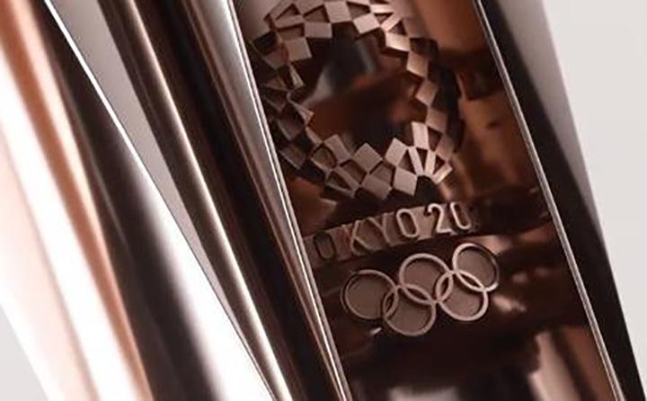 Cerejeira ou sakura, tradicional flor do Japao, a imagem da tocha para Olimpiada 2020