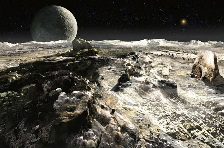 Imagens concebidas pela Agência Espacial Brasileira, mostram visão do solo de Plutão