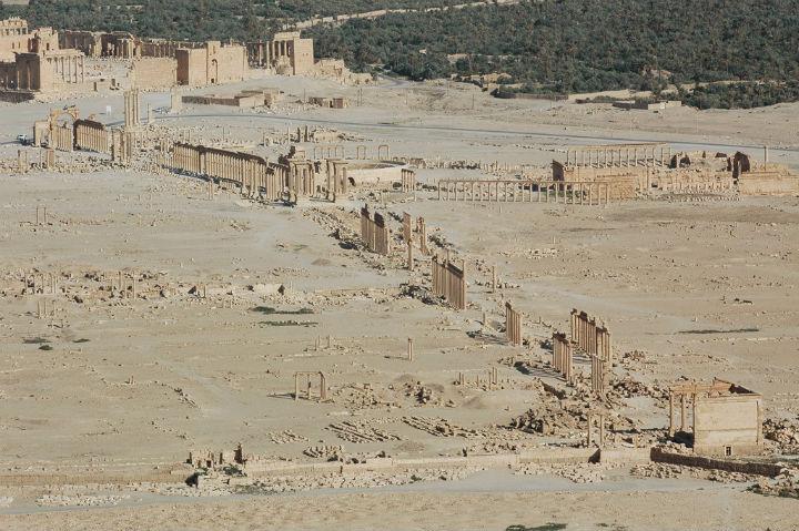 Cidade antiga de Palmira, na Síria, está quase completamente destruída. FOTO Ron van Oers-UNESCO