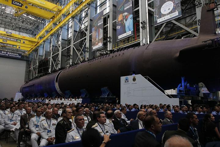 Movido a Diesel e eletricidade, submarino em nova etapa lancada por Bolsonaro. Foto AgBr Tomaz Silva