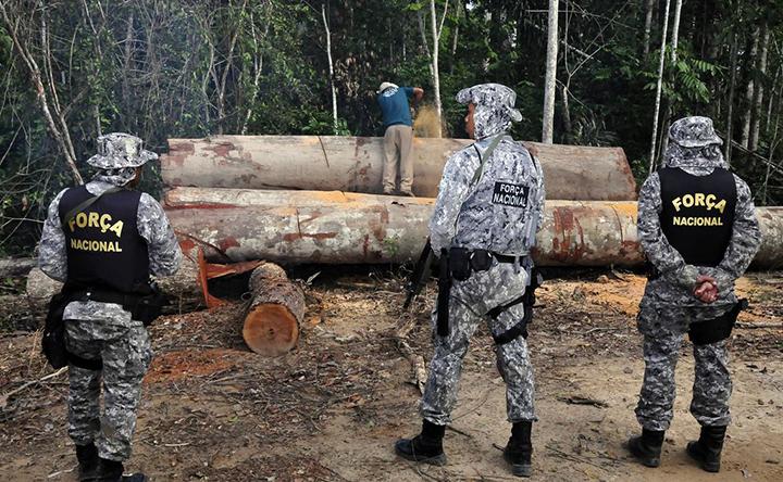 Esta garantida pelo Governo Federal, atuacão da Forca Nacional na Amazonia. Foto FUNAI, Mario Vilela
